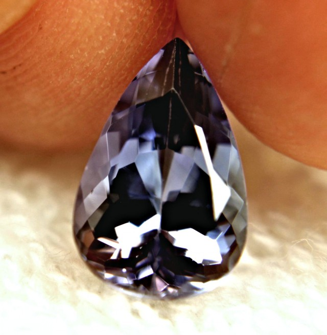 4.26 Carat IF/VVS1 Purplish Blue African Tanzanite Pear