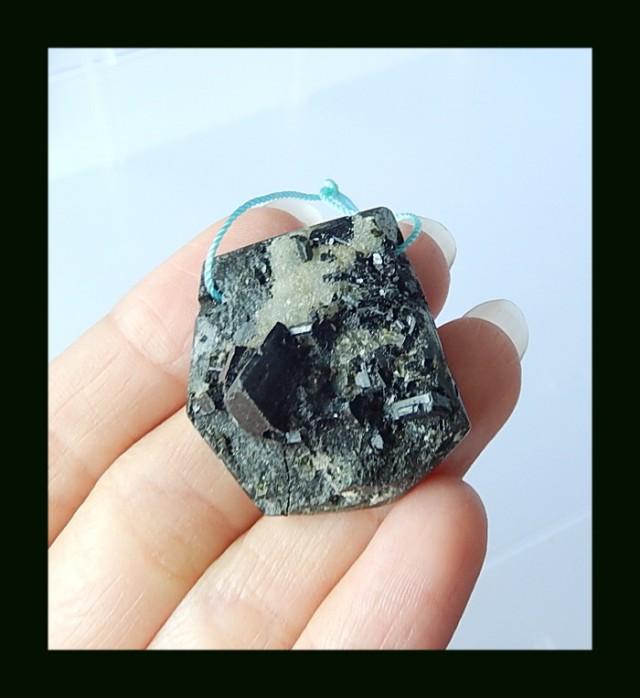 Free Shipping Nugget Babintonite Pendant Bead,74 Cts