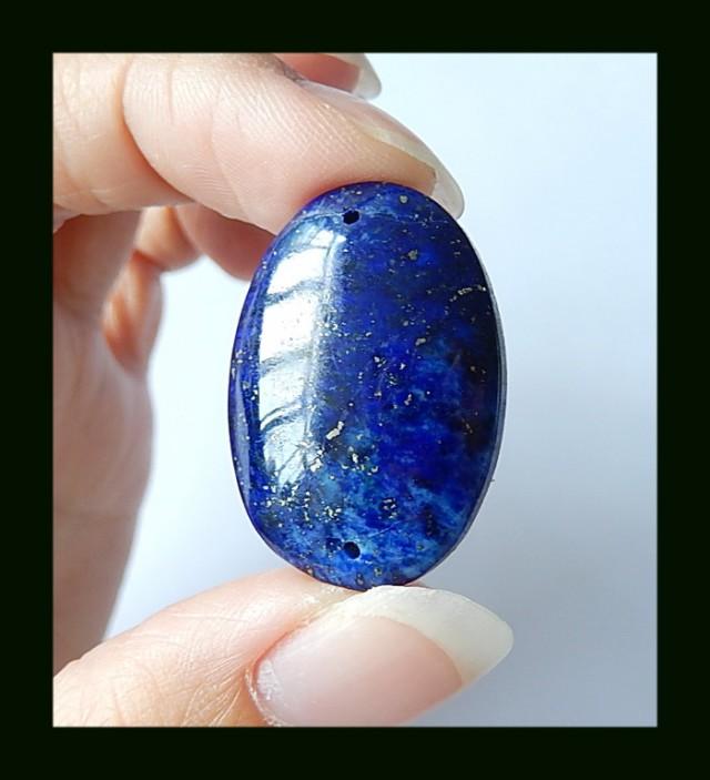 29 cts natural royal blue lapis lazuli bead. Black Bedroom Furniture Sets. Home Design Ideas