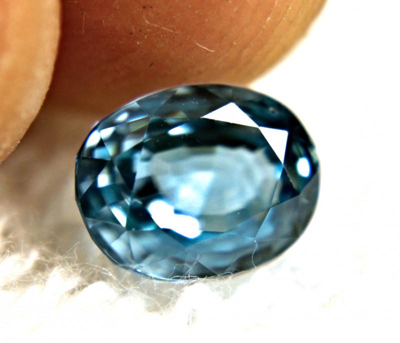 3.39 Carat Blue VVS Zircon - Gorgeous