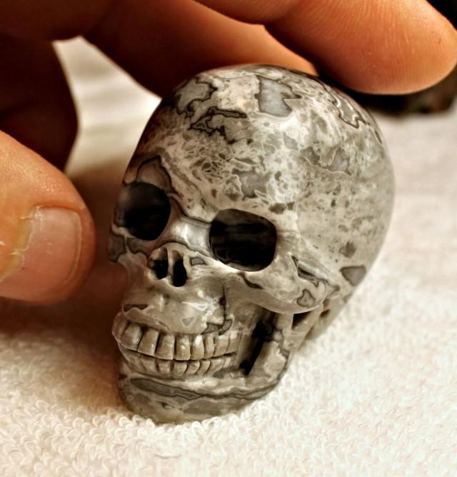 467.5 Carat Jasper Skull Carving