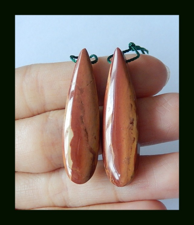 Natural Wonder Stone Teardrop Earring Beads,41 Cts