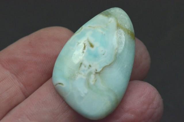 34mm Aragonite trillion designer shape cahochon natural and rare