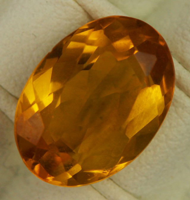 5.20 CTS FIREY  CITRINE -CUT FROM OUR ROUGH  [ST9863]