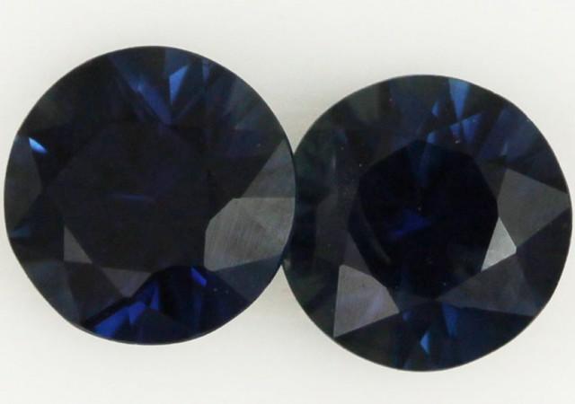.90 CTS -PAIR  NATURAL BLUE  AUSTRALIAN SAPPHIRE [SAP401]