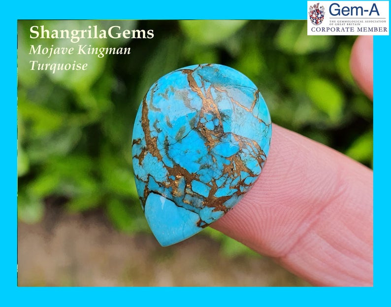 TWO 5mm x 3mm 5x3  Pear Natural Turquoise Cabochon Gem Stone Gemstone ebs5621