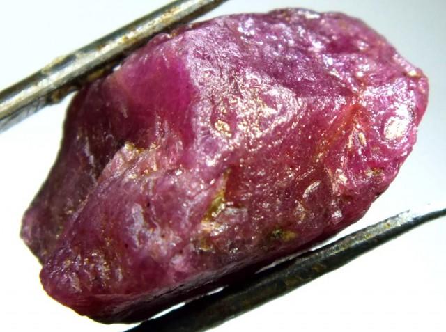 BURMA RUBY ROUGH RICH PINKY  RED  27.5 CTS RG-1346