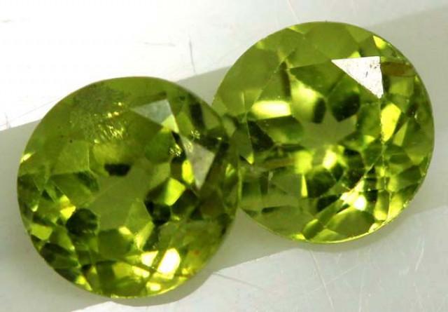 1.85 CTS PERIDOT BRIGHT GREEN PAIR (2 PCS)  CG-1945