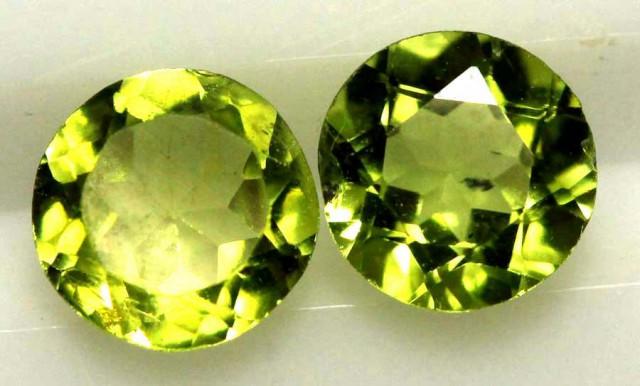 1.60 CTS PERIDOT BRIGHT GREEN PAIR (2 PCS) CG-1947