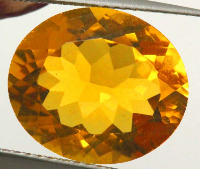 CITRINE NATURAL FACETED 6.20 CTS CG-1953