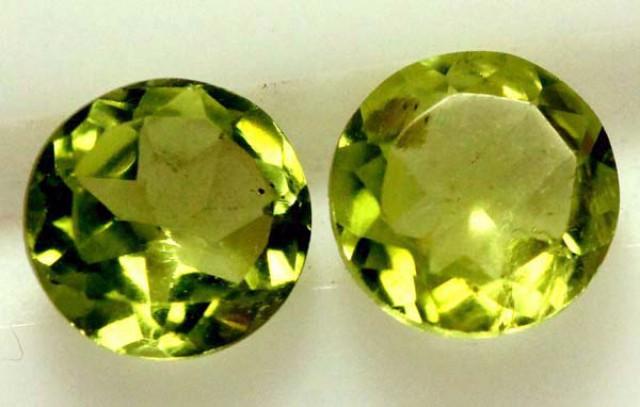 1.50 CTS PERIDOT BRIGHT GREEN PAIR (2 PCS)  CG-1962