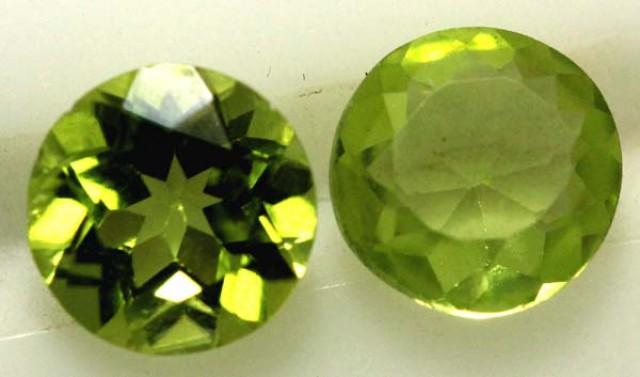 1.55 CTS PERIDOT BRIGHT GREEN PARCEL (2 PCS)  CG-1966