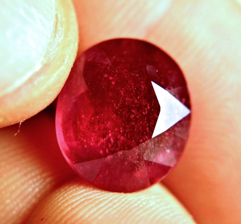 10.14 Carat Fiery Pigeon Blood Ruby - Superb
