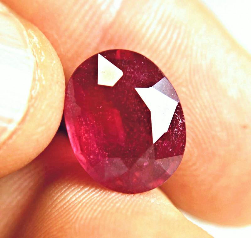9.28 Carat Fiery Pigeon Blood Ruby - Superb