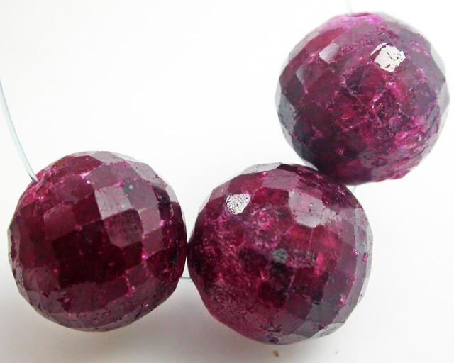 Parcel 3 Ruby Beads BU505