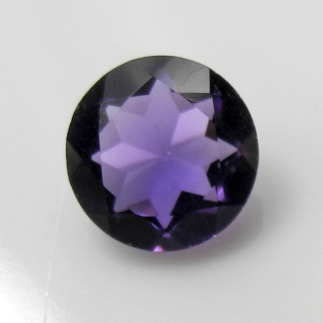 WONDERFUL ROYAL PURPLE 8.00MM STEP CUT, ROUND AMETHYST GEMSTONE!!