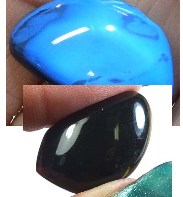 AMBER  INDONESIA  HONEY GOLD TO BLUE 7.25   CTS  TBG-2137