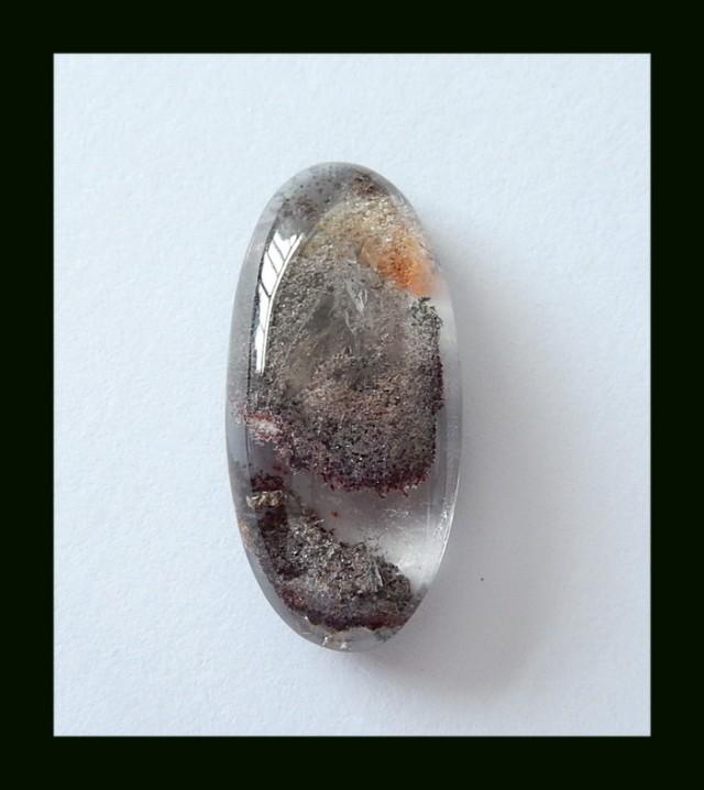 22 cts Natural Lodolite Quartz With Brown Fantom Gemstone Crytsal