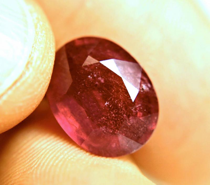 8.01 Carat Fiery Red Ruby