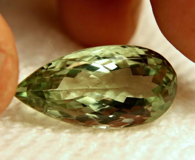 22.8 Carat VVS Brazil Prasiolite - Beautiful