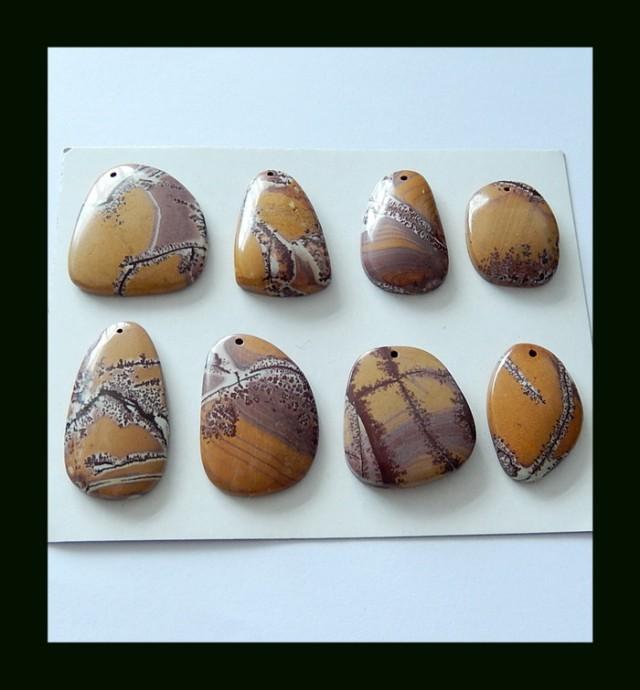 8 Pcs Narural Chohua Jasper Beads Gemstone Parcel,151 cts