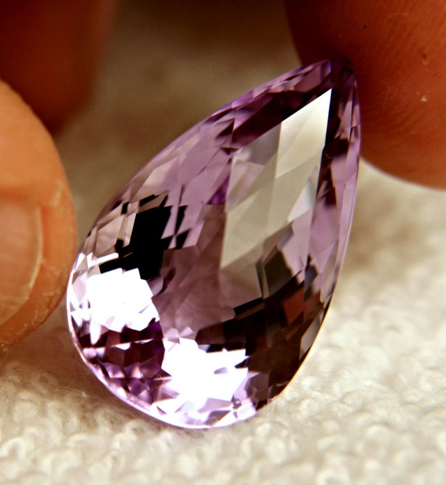 24.88 Carat VVS1 Light Purple Amethyst