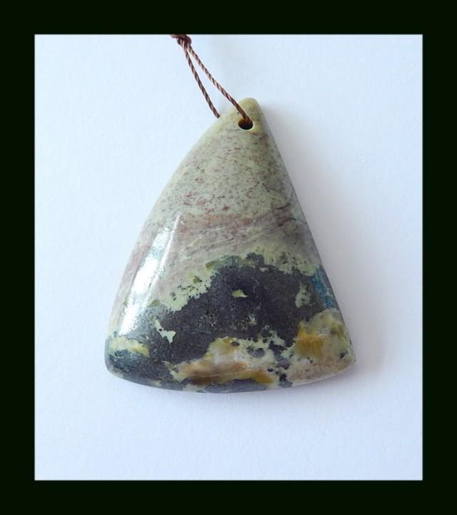 79 ct Natural Serpentine Gemstone Pendant Bead