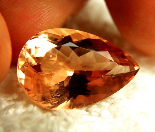 CERTIFIED MORGANITE-18.76cts INTENSE Pnk & Peach ~ VALUABLE!!