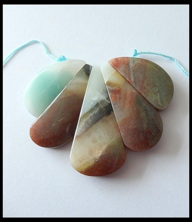 131 ct Bi Color Amazonite Cluster Pendant Beads,Untreated