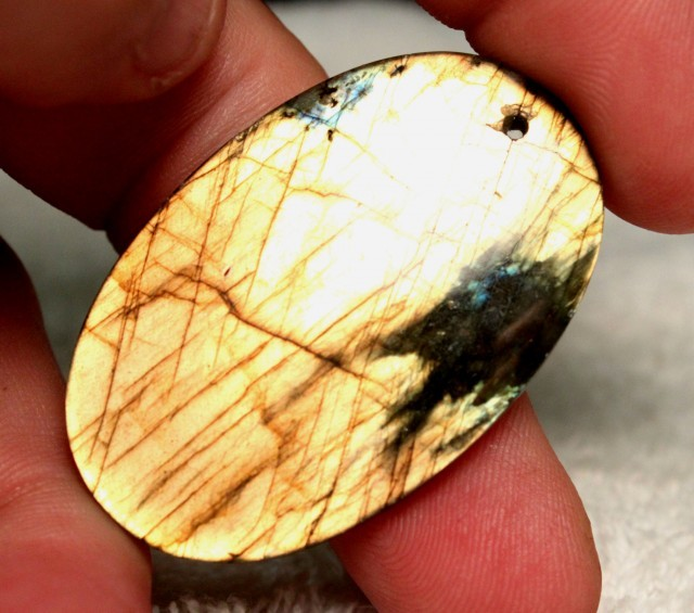80 Carat Labradorite Pendant Stone - 47mm