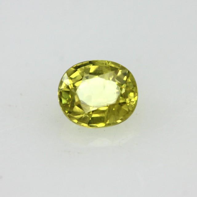 0.41cts Natural Australian Yellow Sapphire Oval Cut