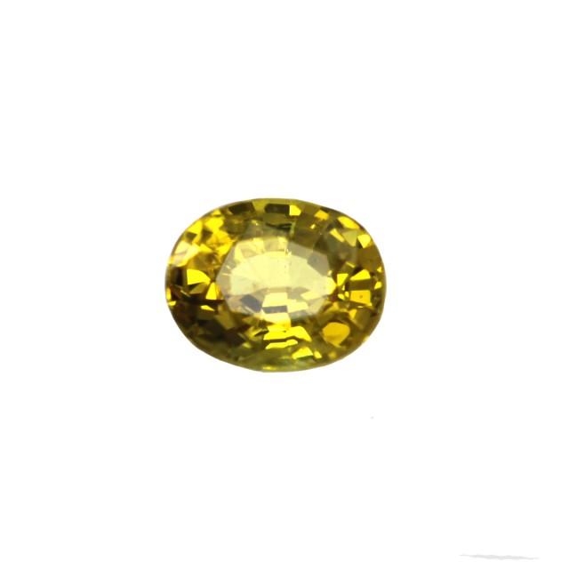 0.34cts Natural Australian Golden Sapphire Oval Cut