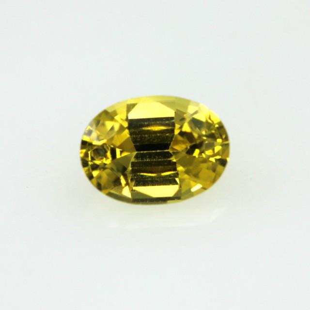 0.56cts Natural Australian Golden Sapphire Oval Cut