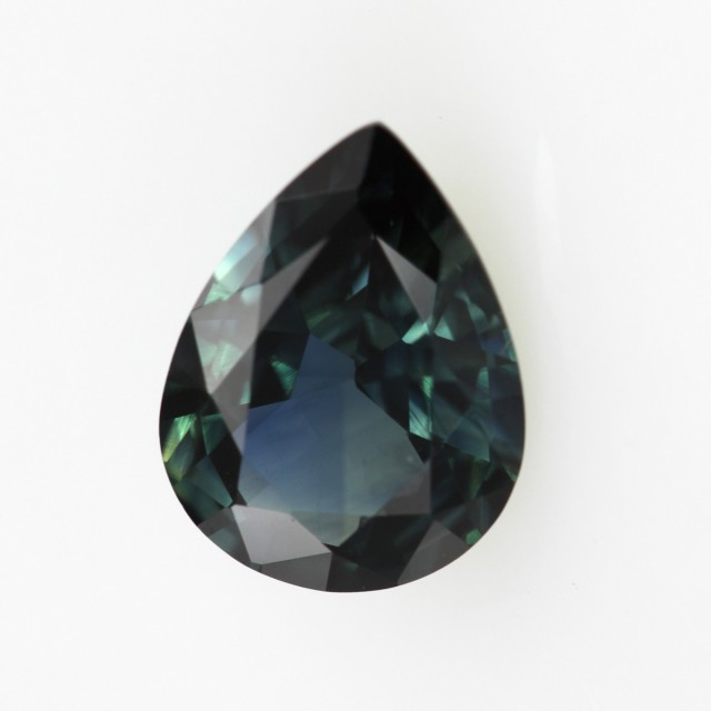 1.73cts Natural Australian Blue Sapphire Pear Cut
