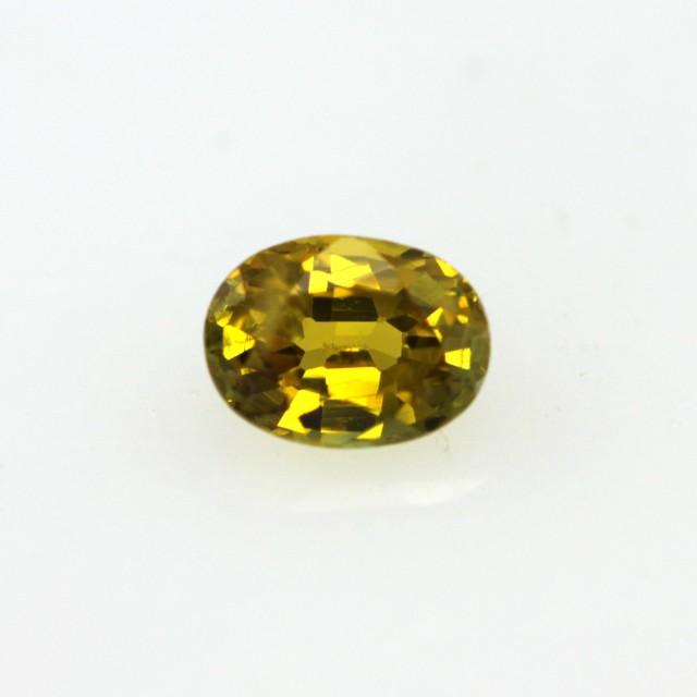0.35cts Natural Australian Golden Sapphire Oval Cut