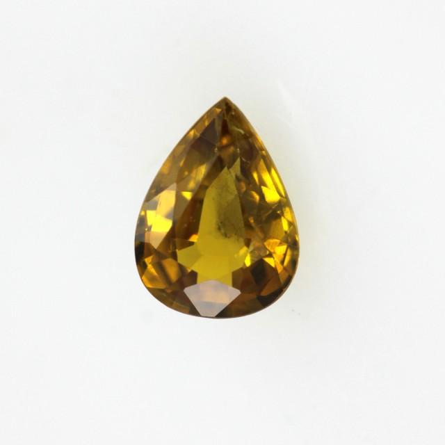 0.43cts Natural Australian Golden Sapphire Pear Cut