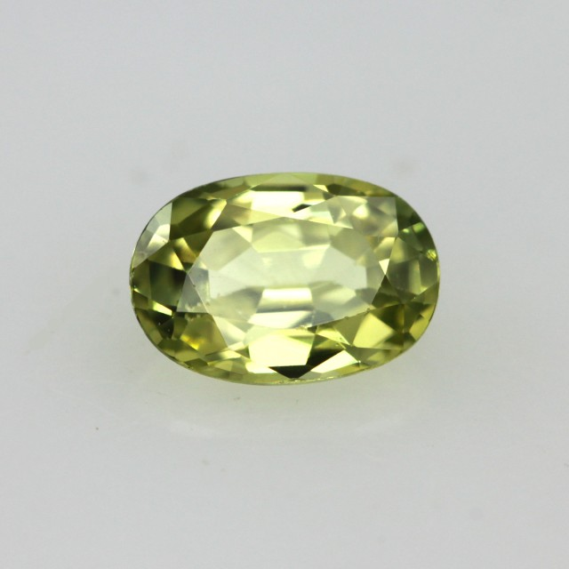 0.58cts Natural Australian Yellow Sapphire Oval Cut