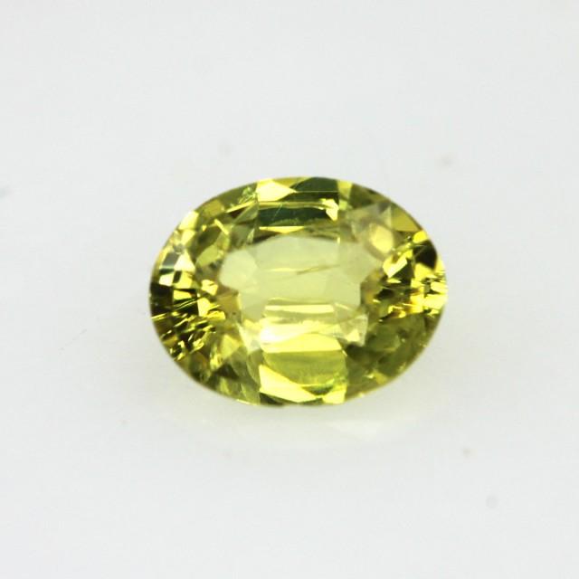 0.57cts Natural Australian Yellow Sapphire Oval Cut