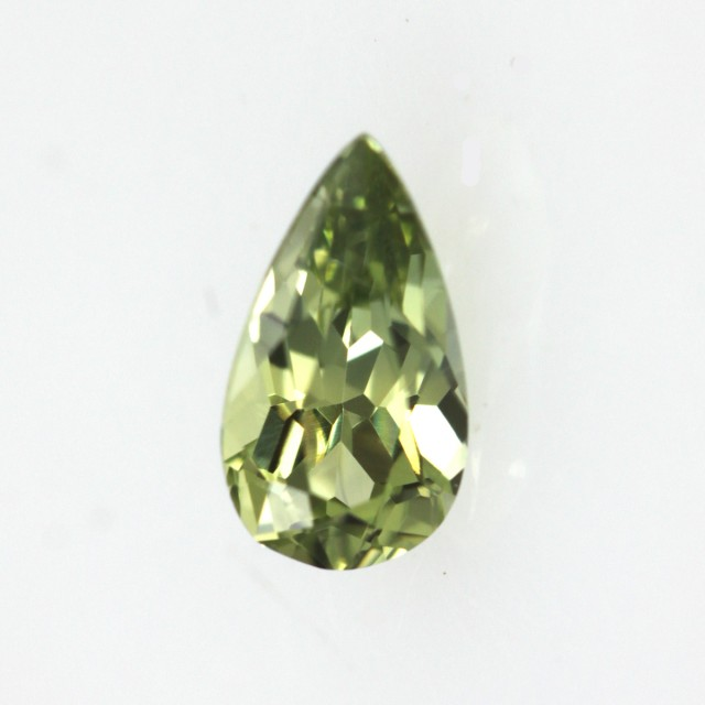 0.45cts Natural Australian Yellow Parti Sapphire Pear Cut