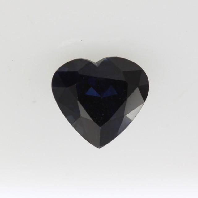 1.36cts Natural Australian Blue Sapphire Heart Shape