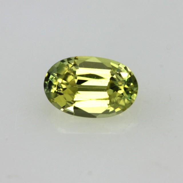 0.52cts Natural Australian Yellow Sapphire Oval Shape