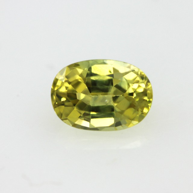 0.71cts Natural Australian Yellow Sapphire Oval Shape