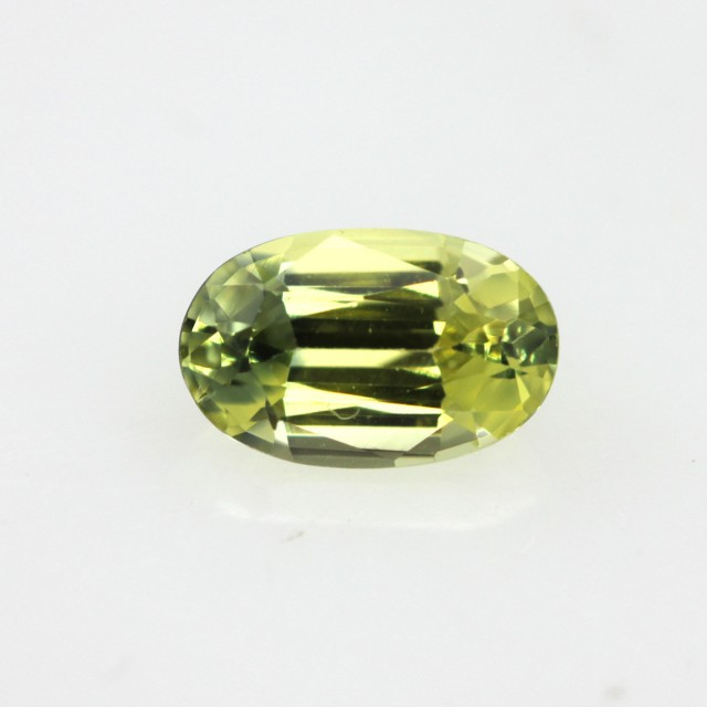 0.48cts Natural Australian Yellow Sapphire Oval Shape