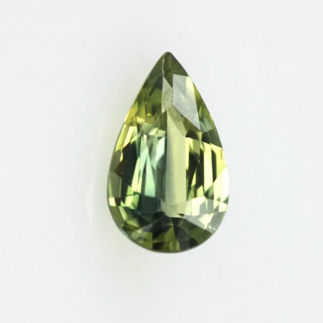 0.73cts Natural Australian Yellow Parti Sapphire Pear Shape