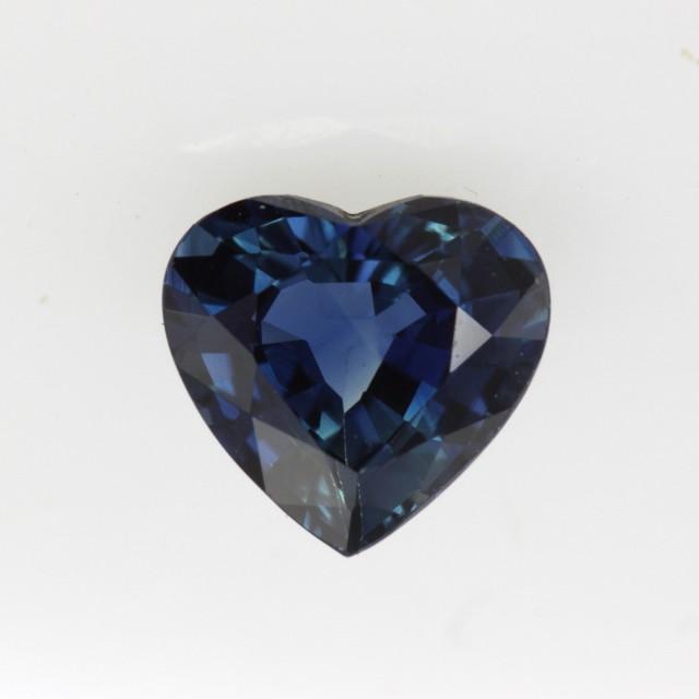 1.37cts Natural Australian Blue Sapphire Heart Shape
