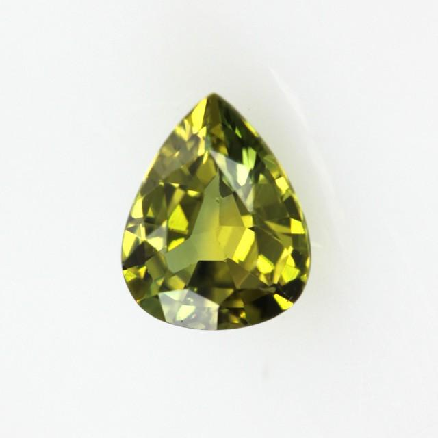 0.54cts Natural Australian Yellow Parti Sapphire Pear Shape