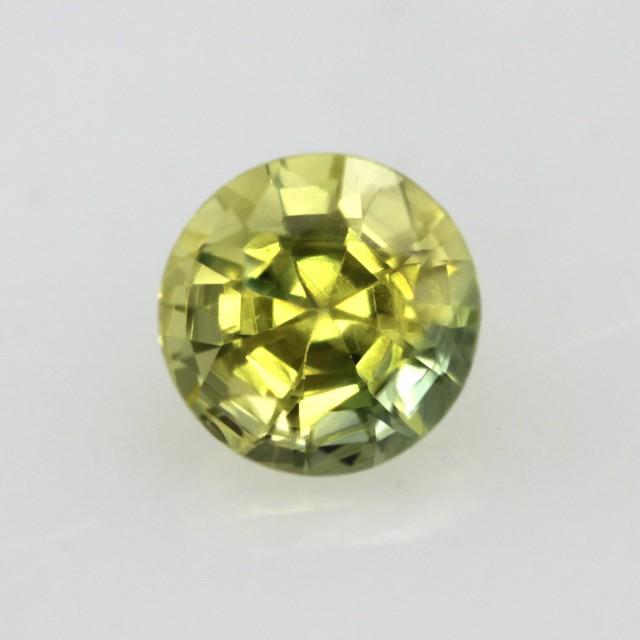 0.75cts Natural Australian Yellow Parti Sapphire Round Shape