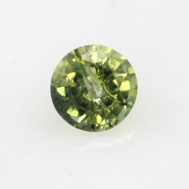0.55cts Natural Australian Yellow Parti Sapphire Round Shape
