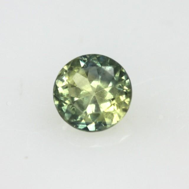 0.44cts Natural Australian Yellow Parti Sapphire Round Shape