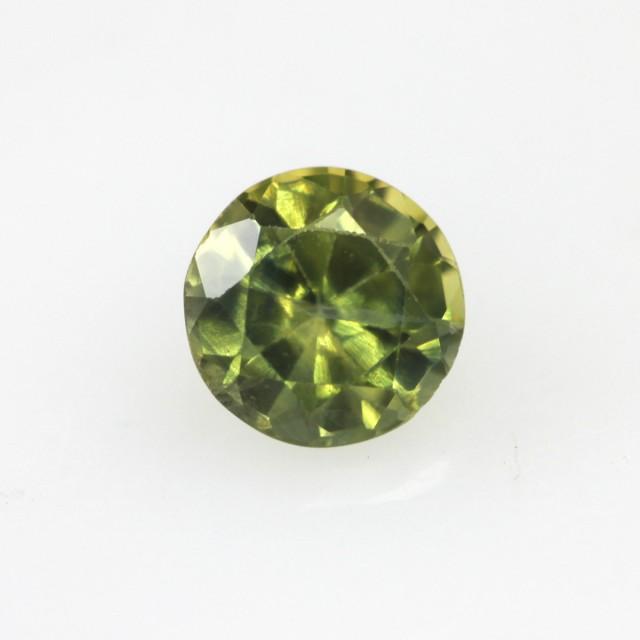 0.63cts Natural Australian Yellow Parti Sapphire Round Shape